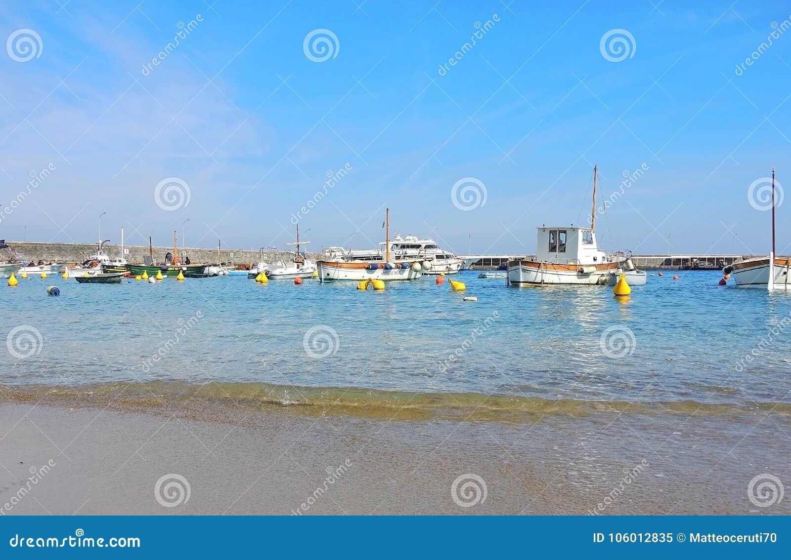 Capri, Naples, Italy  The Harbor Of The Village Marina