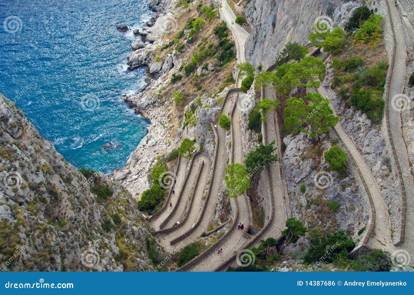 Capri Via Krupp Italy Royalty Free Stock Image Image