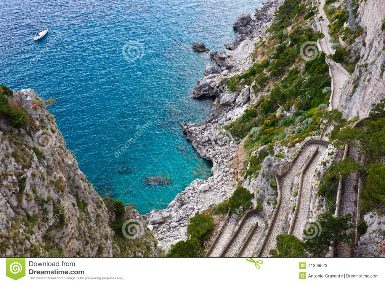 capri  via krupp  italy stock photo image 41309523 summertime clipart png summer time cliparts