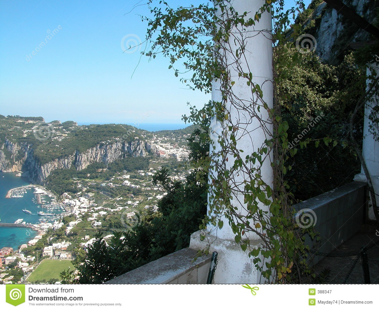Capri Villa Royalty Free Stock Photography Image 388347