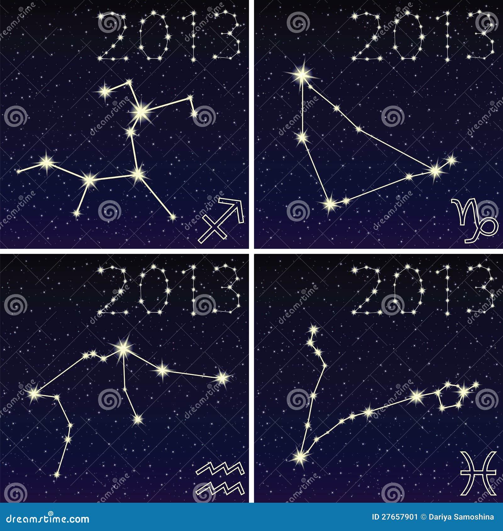The constellation of capricorn, aquarius, sagittarius, pisces 2013.