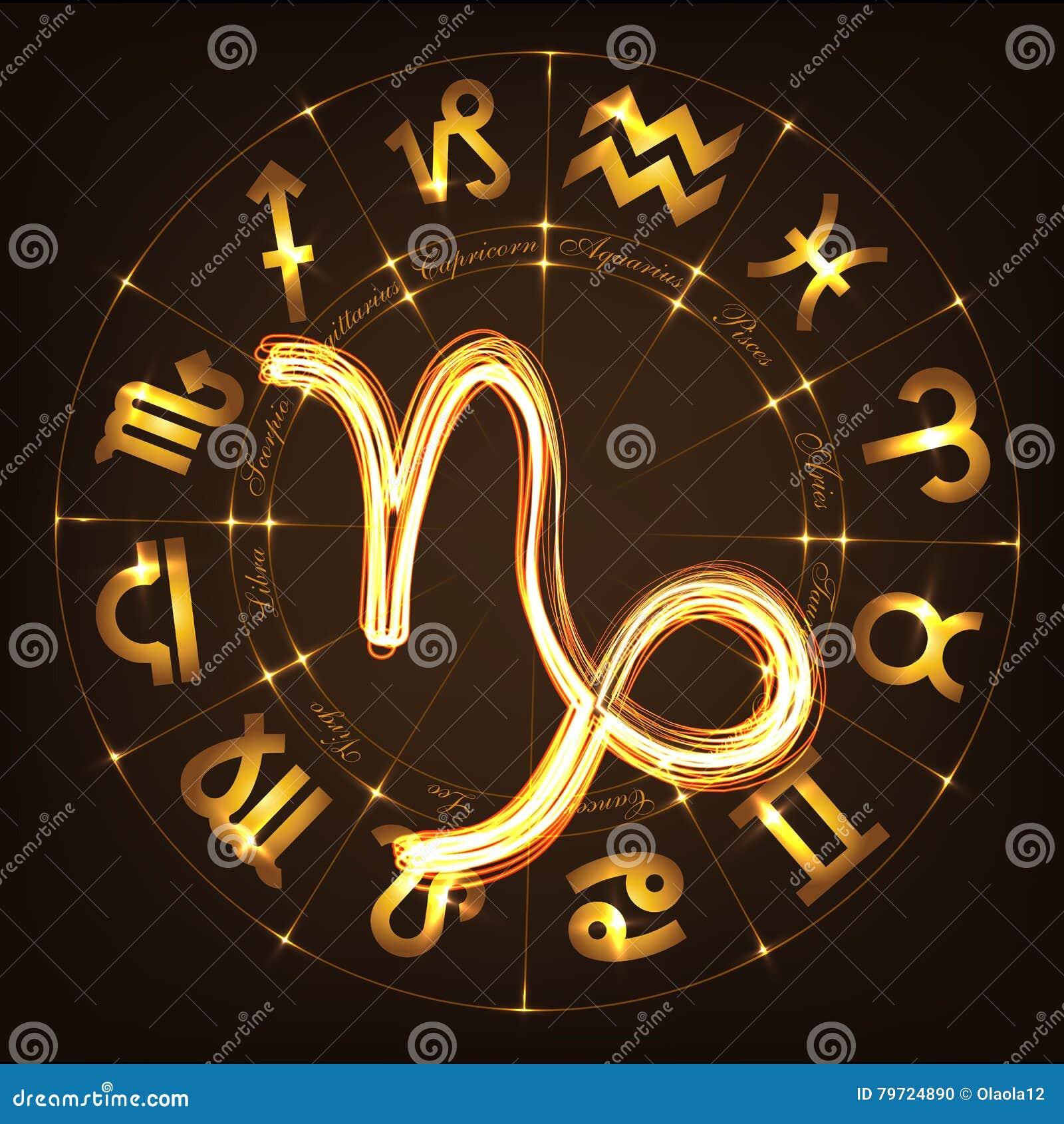 Capricornio de la muestra del zodiaco