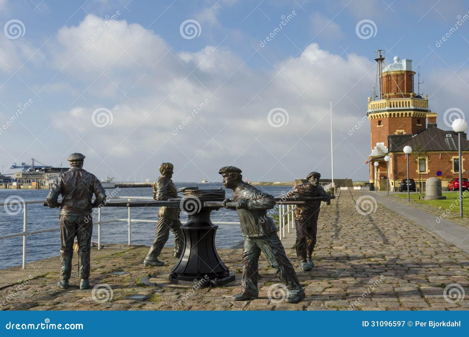 Capstan sculpture Helsingborg