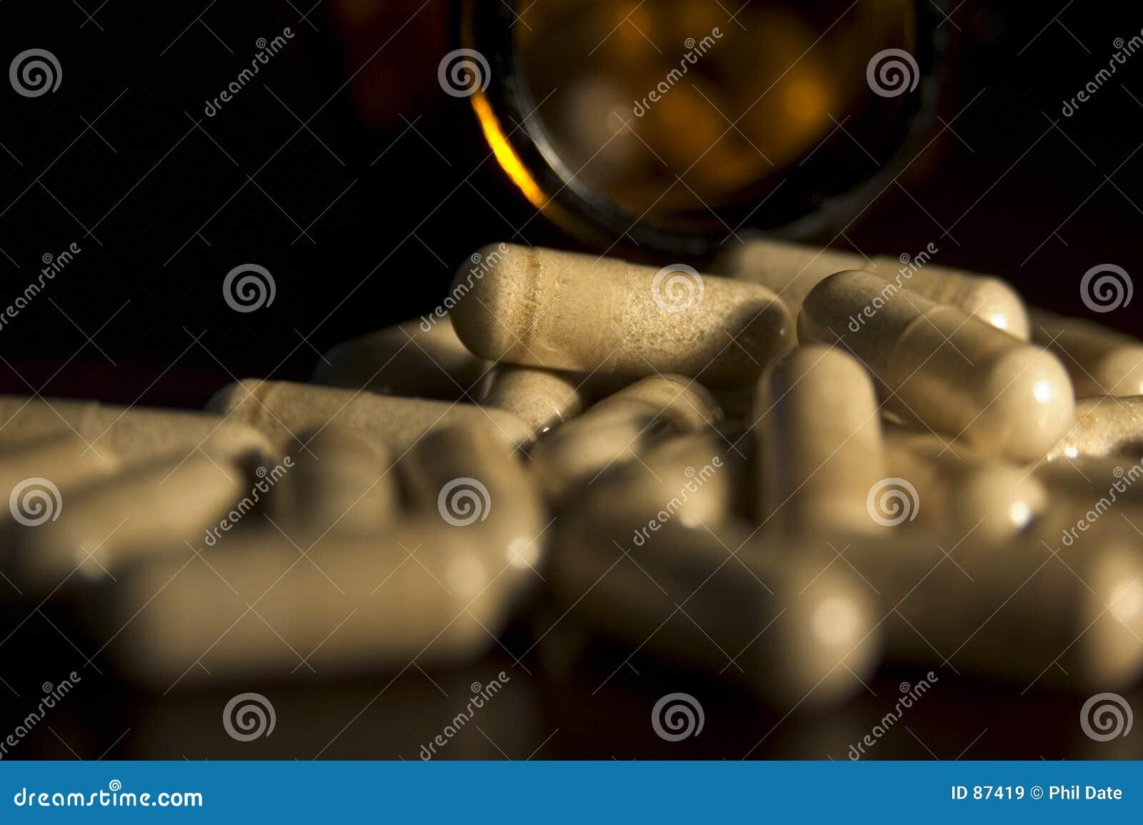 Capsules close up