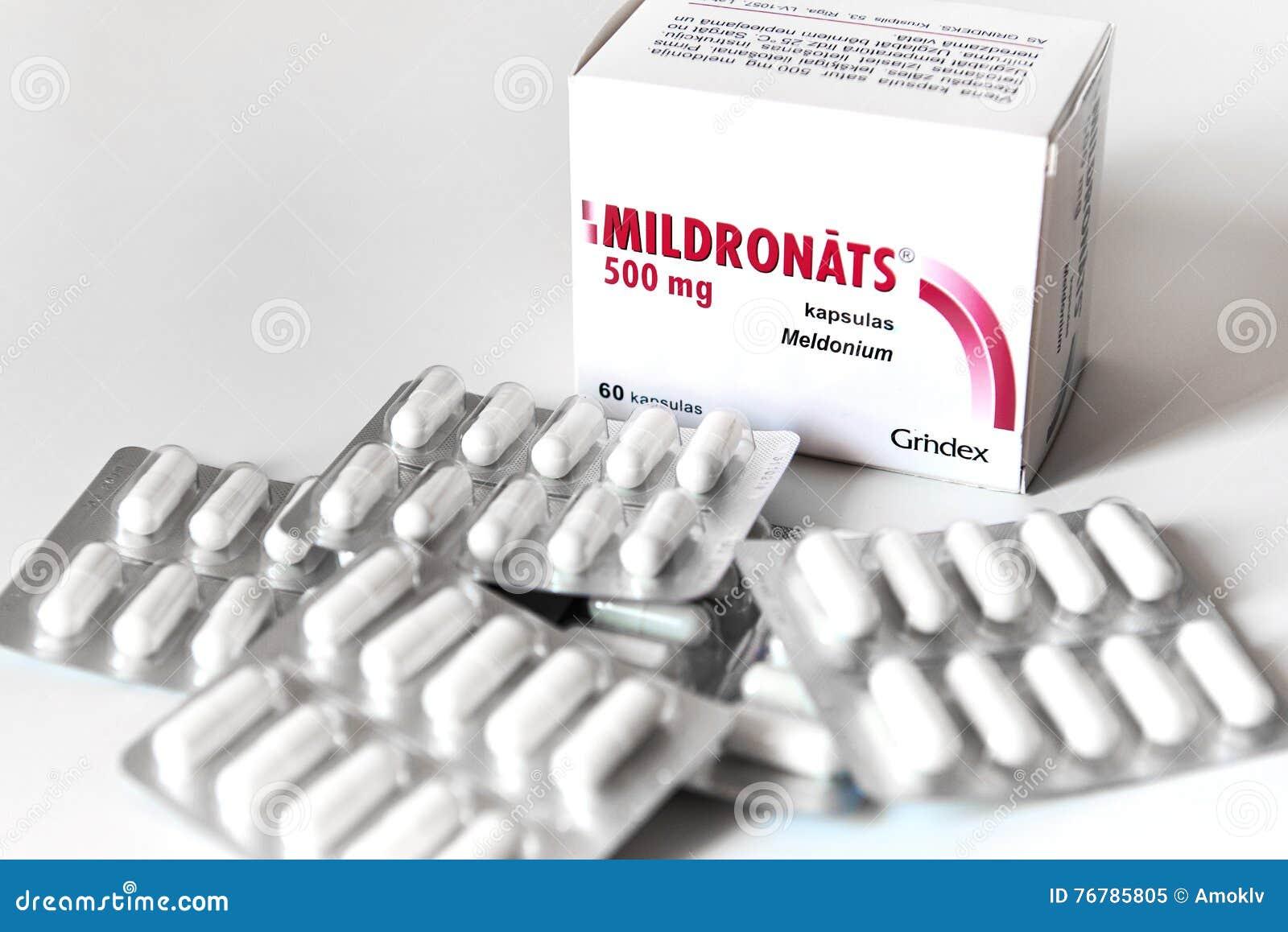 Capsules de Meldonium (également connu sous le nom de Mildronate)