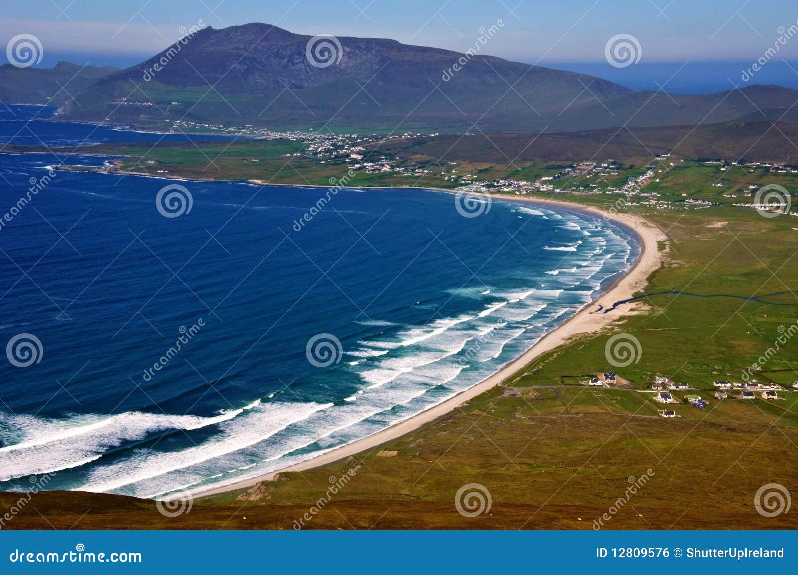 Captação aérea do sescape do ao oeste de ireland