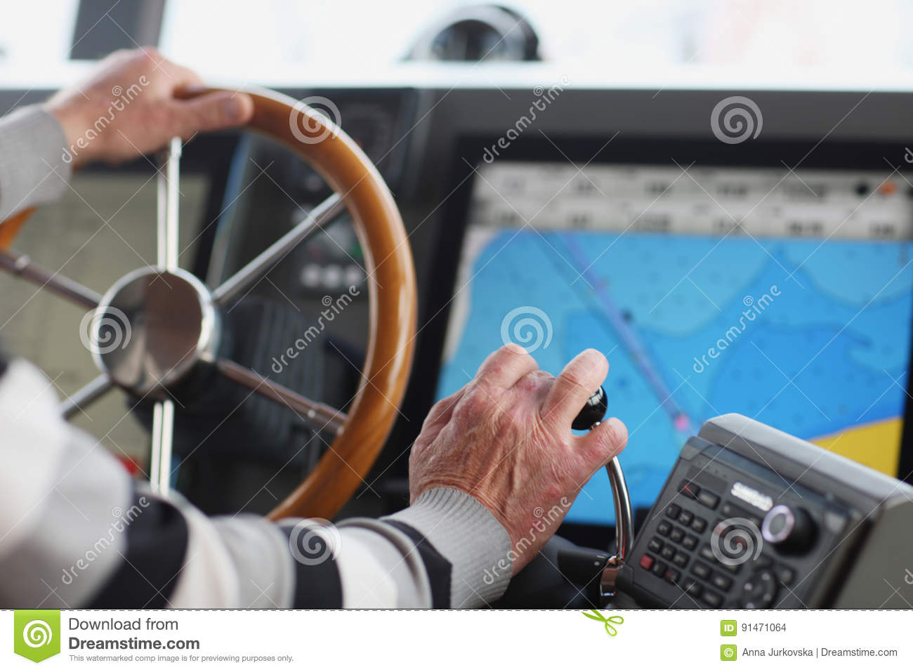 The captain stock photo  Image of maps, navigation, inside - 91471064