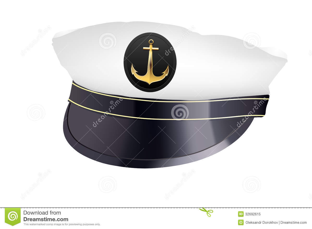 Captain hat stock vector. Illustration of naval, object ... Captain Hat Vector