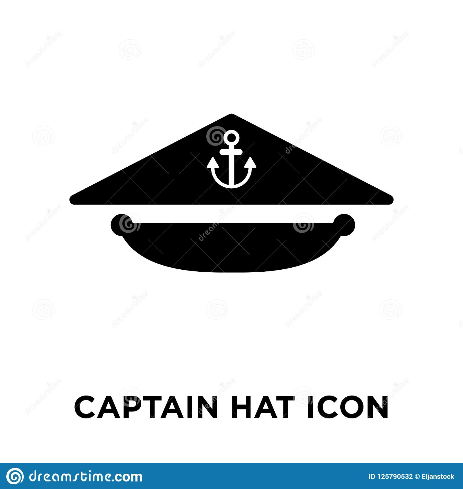 fdeabbf133d Captain Hat Icon Vector Isolated On White Background