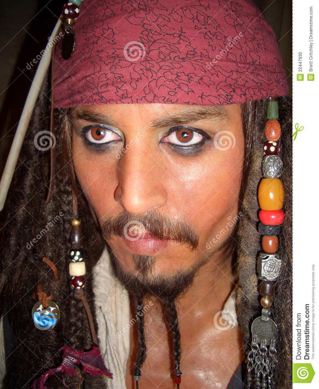 Captain Jack Sparrow Johnny Depp Editorial Image
