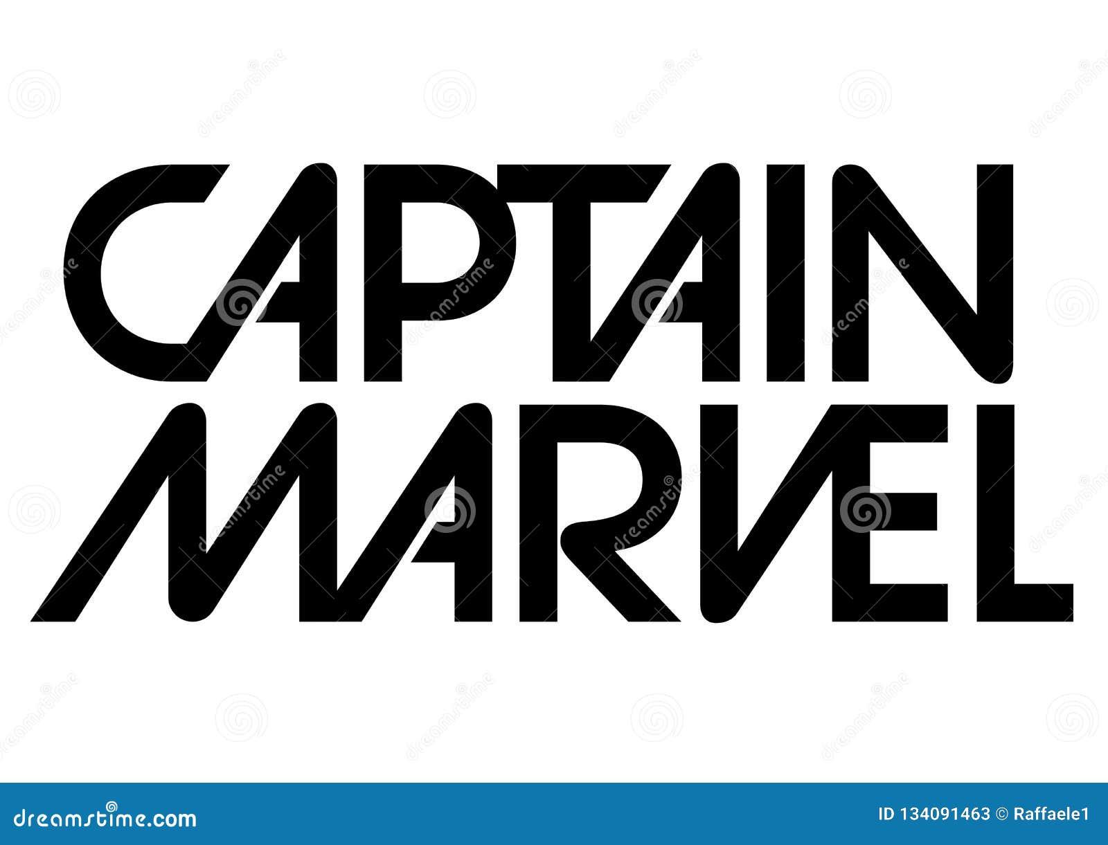 Captain Marvel Logo, Superhero Editorial Stock Photo - Illustration