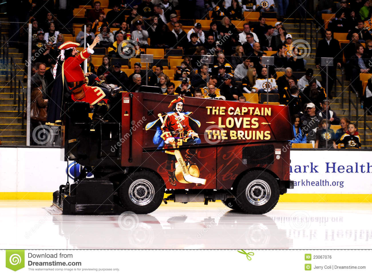 Captain Morgan Takes A Ride On A Zamboni Editorial Photo - Image ...