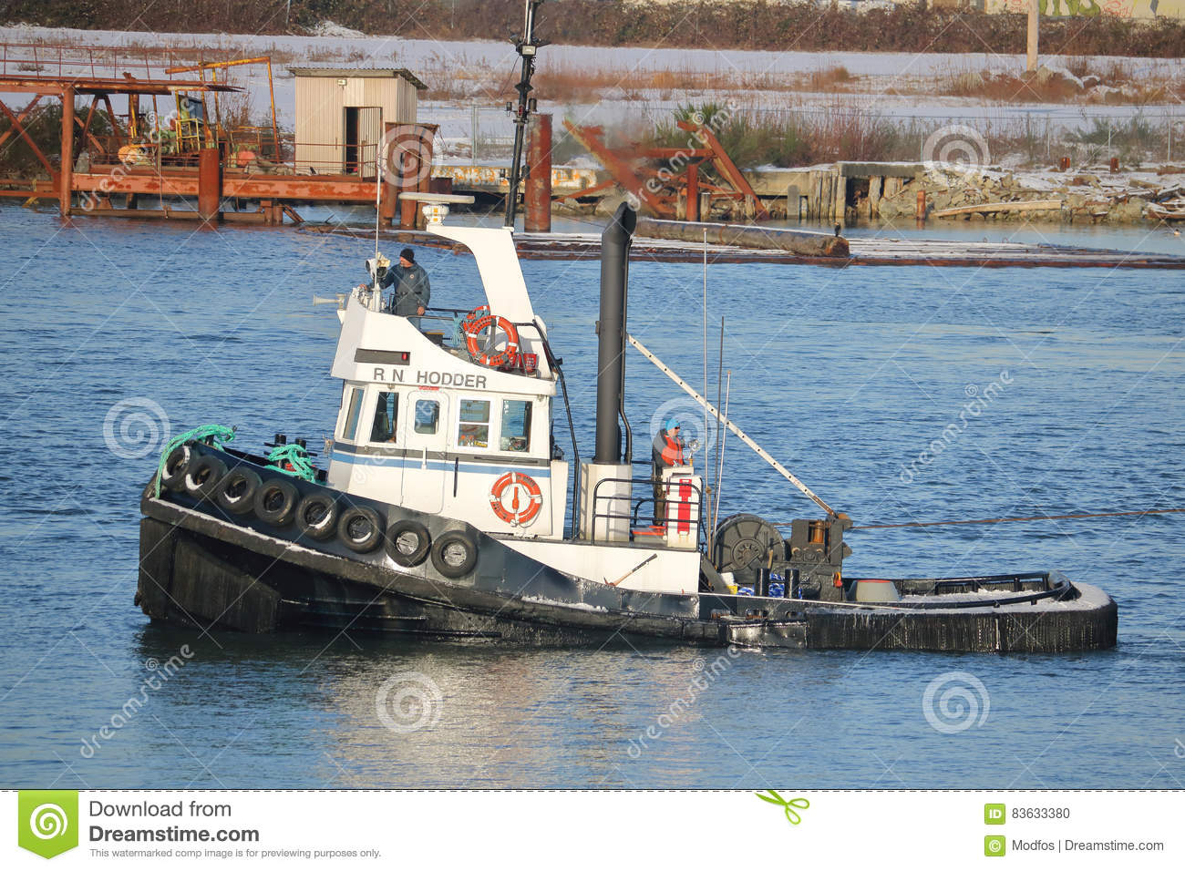 Captain and Tug Boat editorial image  Image of vessel - 83633380