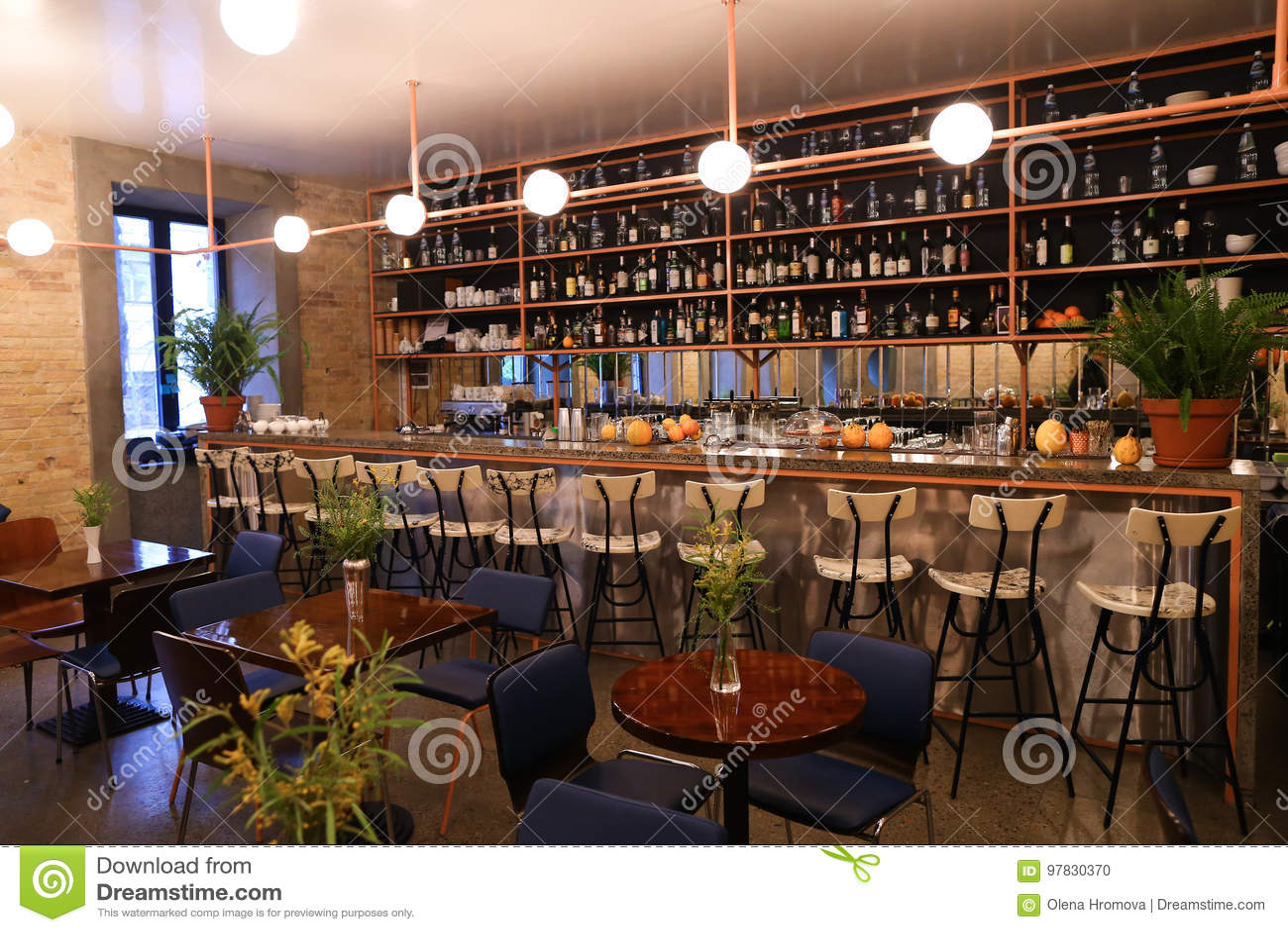 Capture Design Ideas Trendy Cafe Or Restaurant Because Bar Stock Photo Image Of Decor Beautiful 97830370