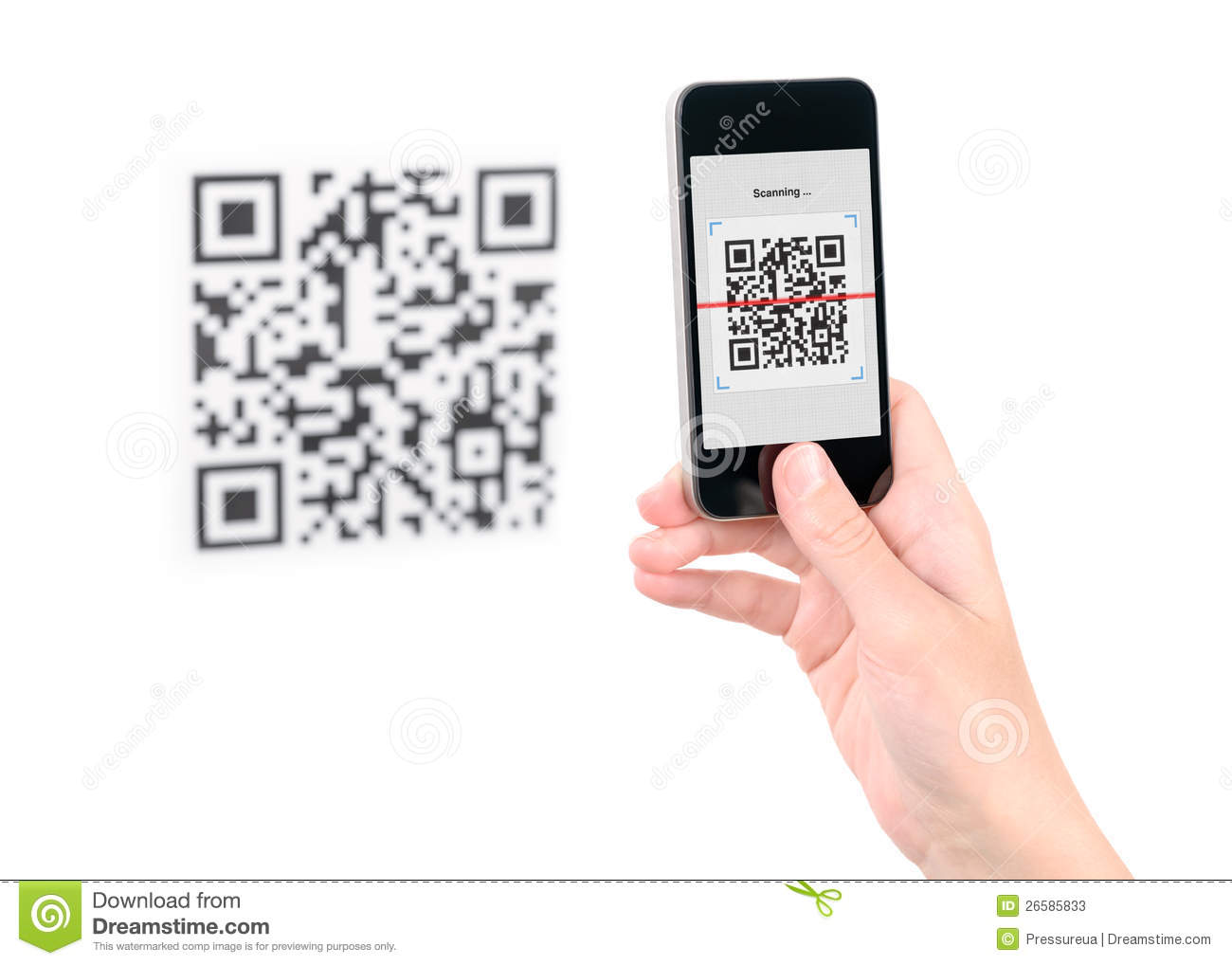 Capture QR Code On Mobile Phone Stock Photos - Image: 26585833