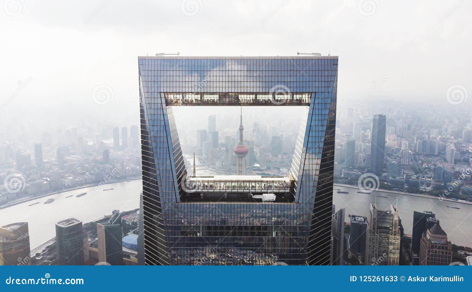 Capture Of Shanghai Skyline. Shanghai World Financial Center, Pearl Tower, Hungpu River And Bund