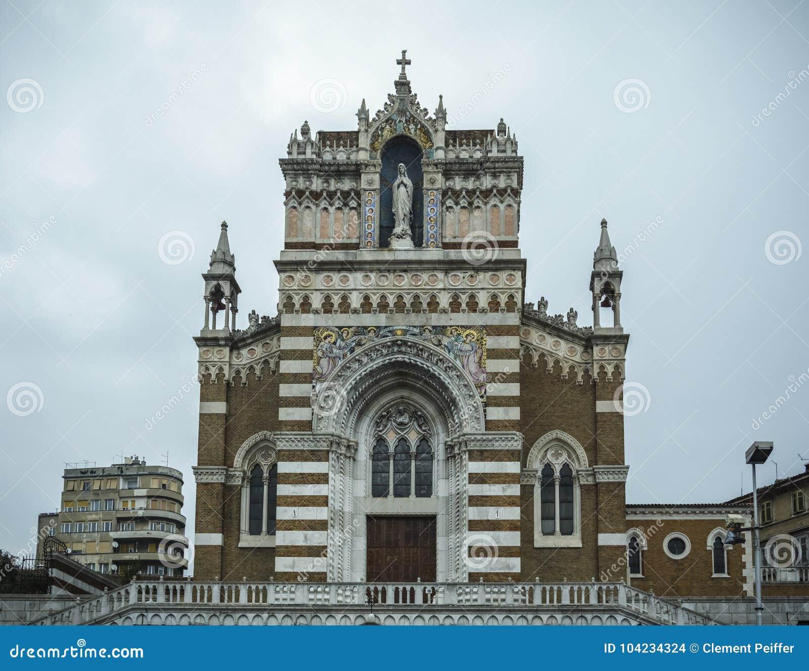 Capuchin-Kirche unserer Dame von Lourdes Rijeka Croatia