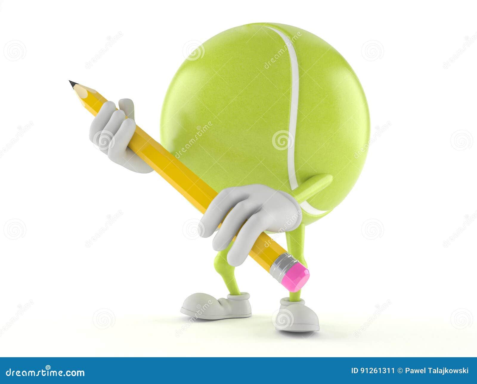 Tenis pelota stock de ilustracion ilustracion libre de stock de - Car Cter De La Pelota De Tenis Con El L Piz