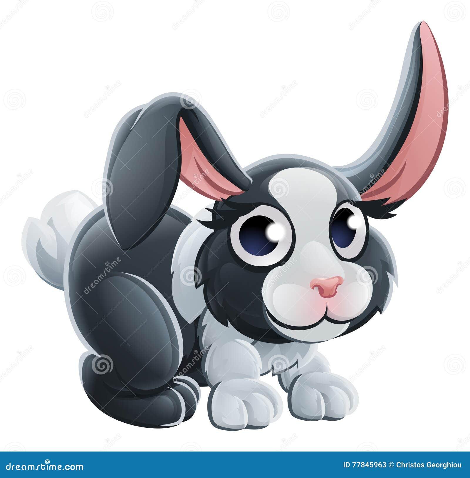 Carácter del animal del conejo de la historieta