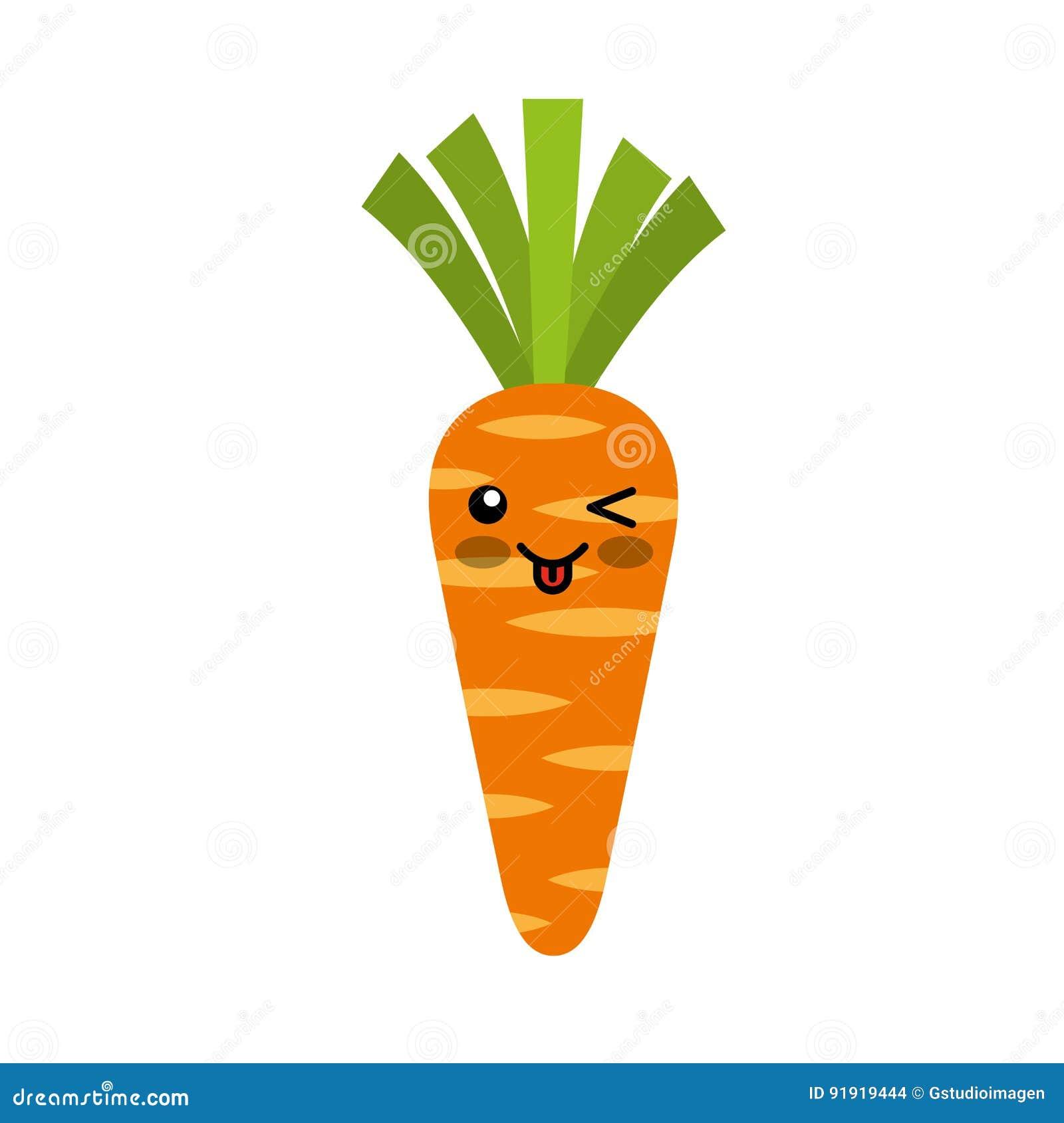 Caracter Del Kawaii De Las Verduras Frescas De La Zanahoria Ilustracion Del Vector Ilustracion De Zanahoria Kawaii 91919444 De hecho, cuando las zanahorias se cuecen levemente. dreamstime