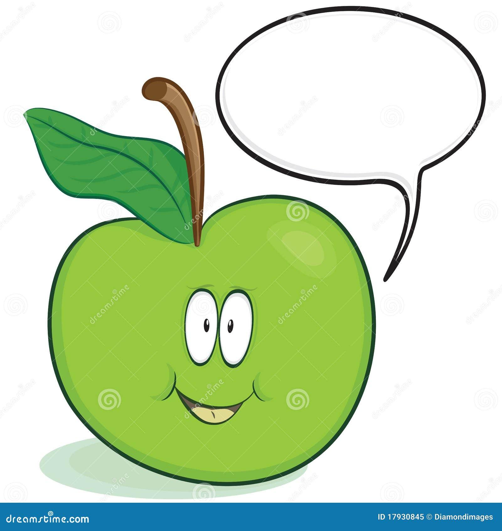 Carácter lindo de la manzana
