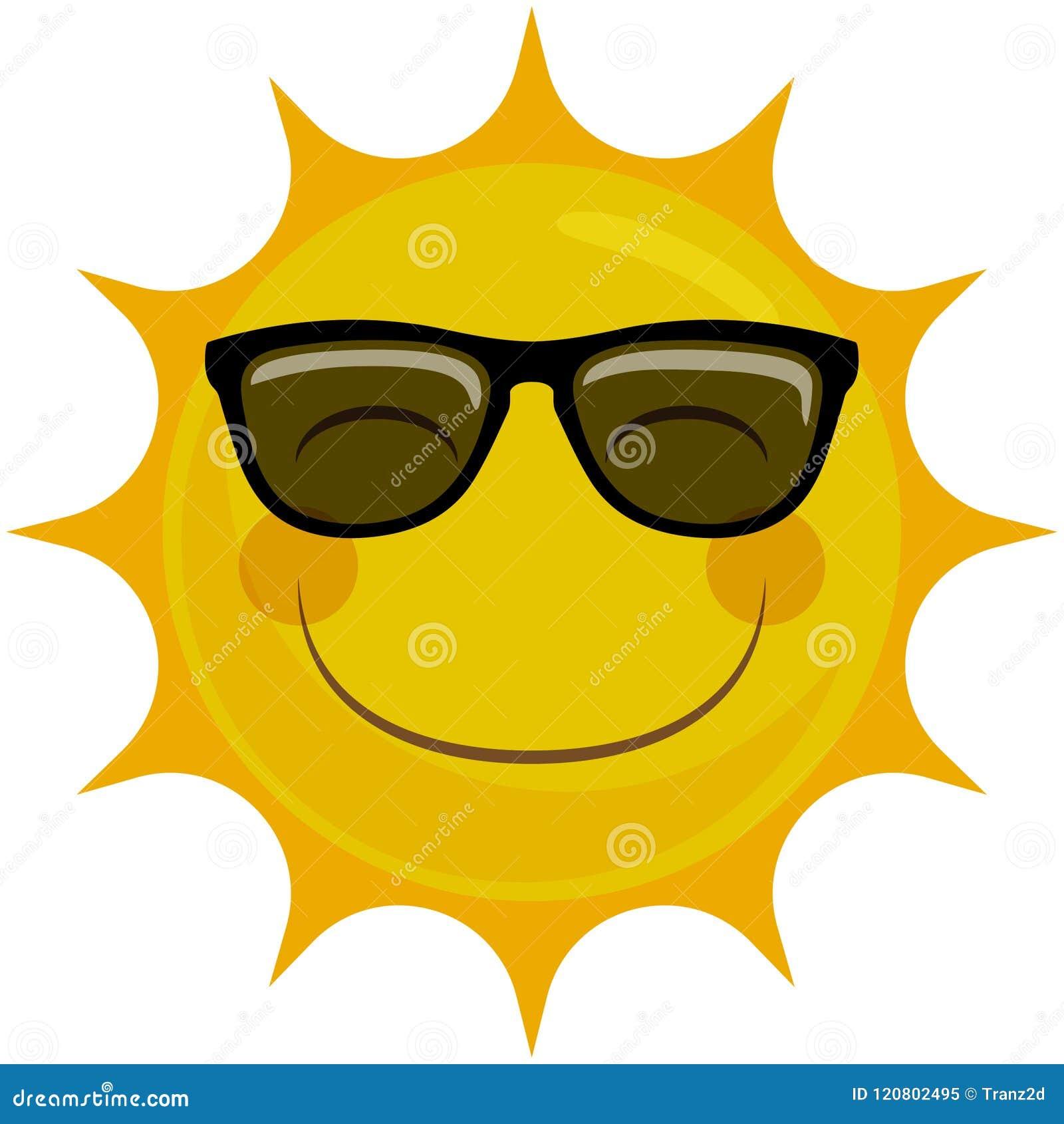 Del Sol Sonriente Las Gafas Sun Con Carácter Feliz De Ilustración vwNm8n0O