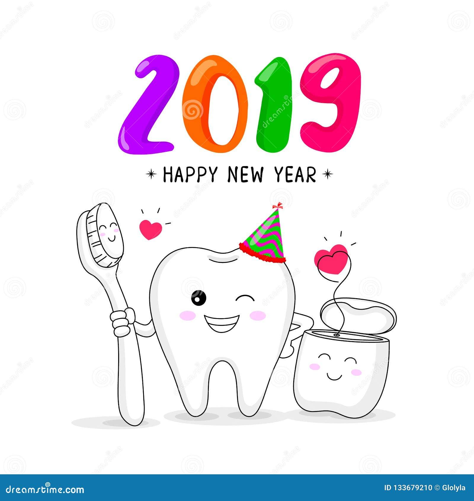 f71e49826 Caráter Bonito Do Dente Dos Desenhos Animados Com Escova De Dentes E ...