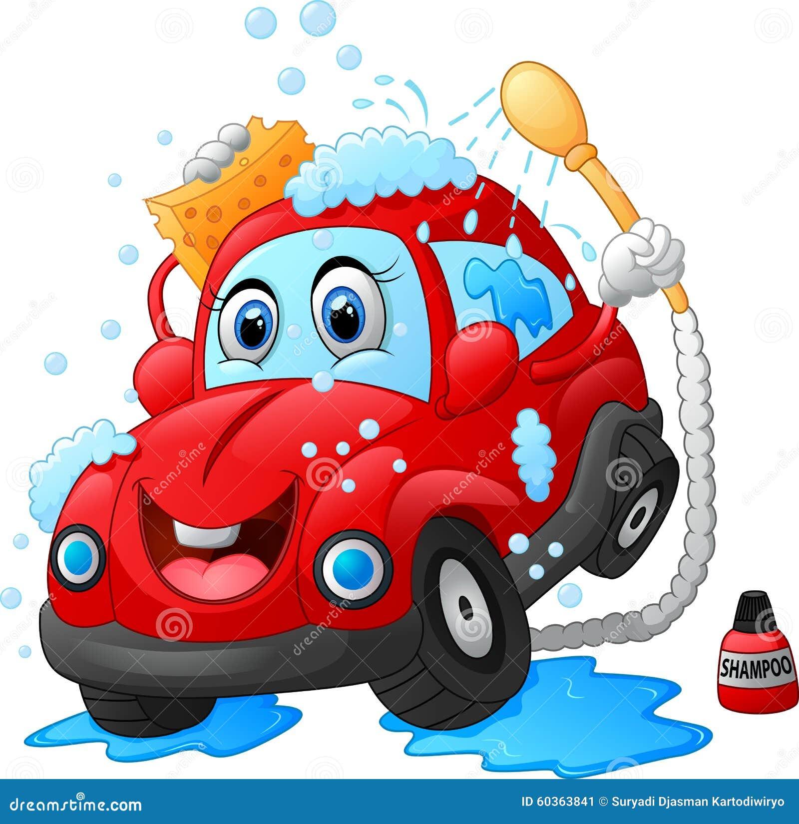 caráter da lavagem de carros dos desenhos animados ilustração stock