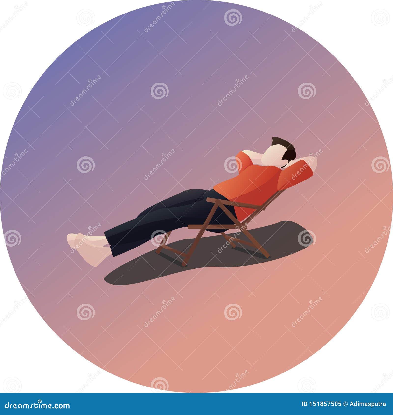 Caráter de relaxamento da pose do vadio