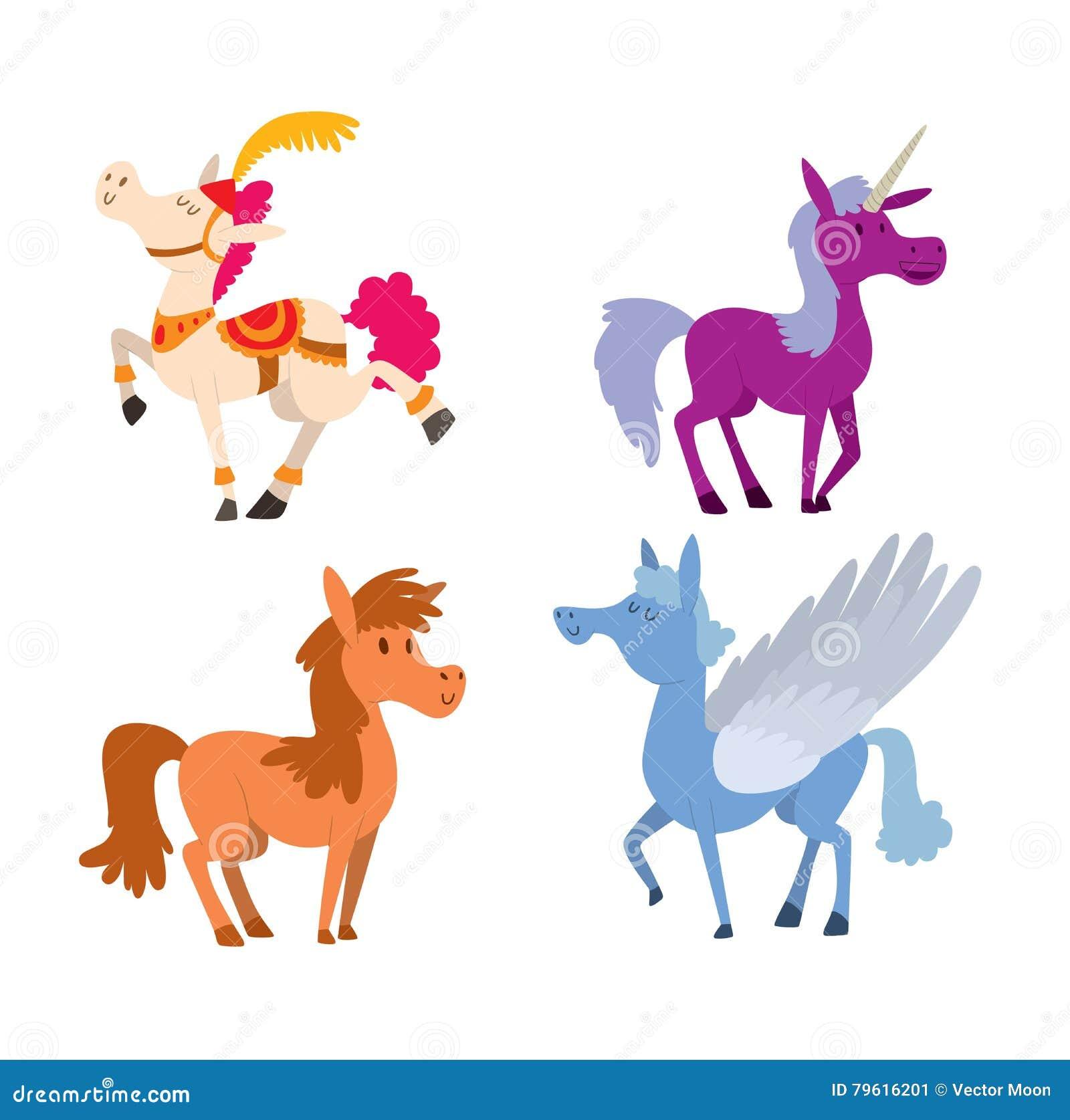 Caráter do vetor do cavalo dos desenhos animados