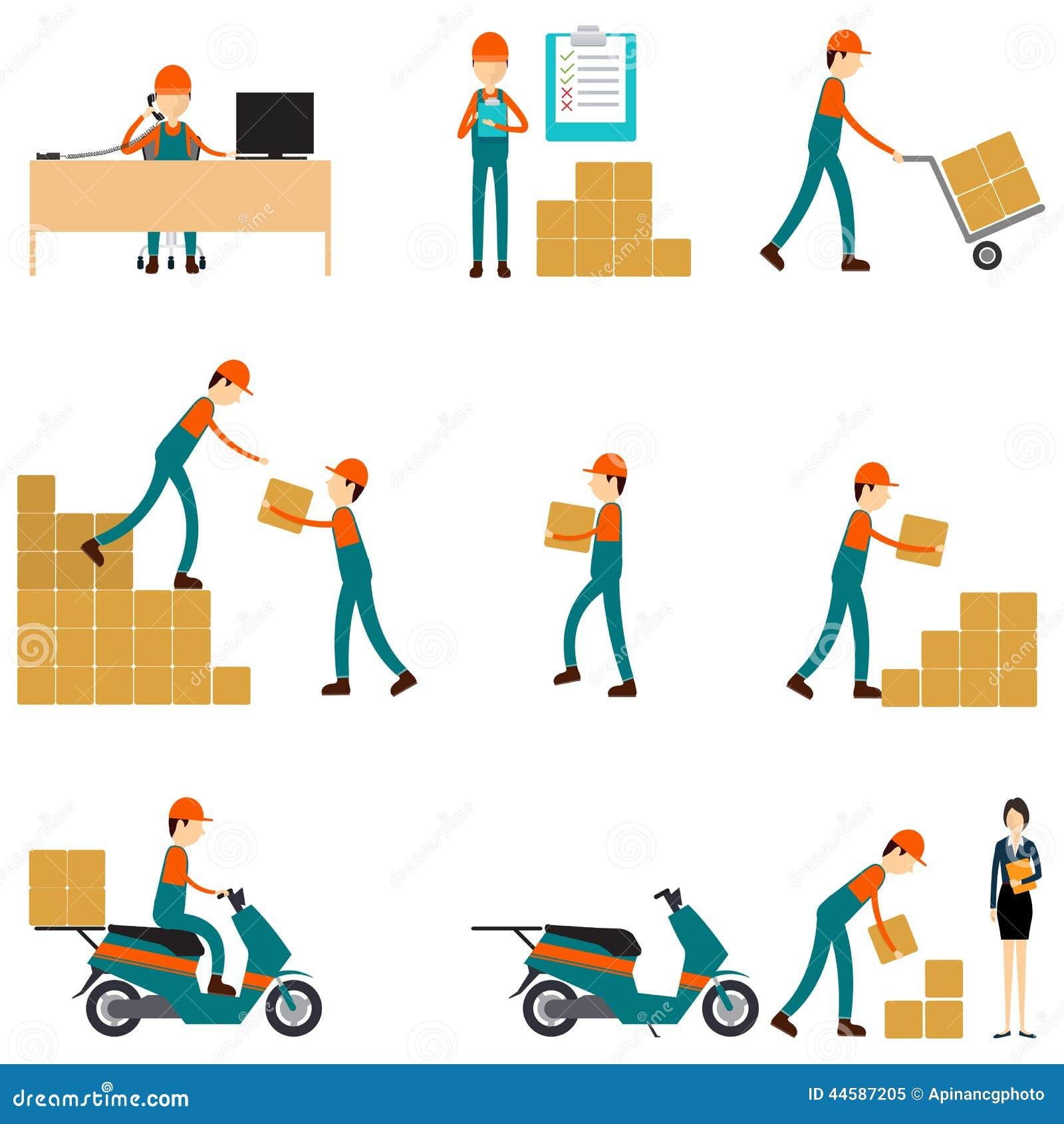 Caráter do vetor logístico e trabalhos de equipa do negócio de transporte