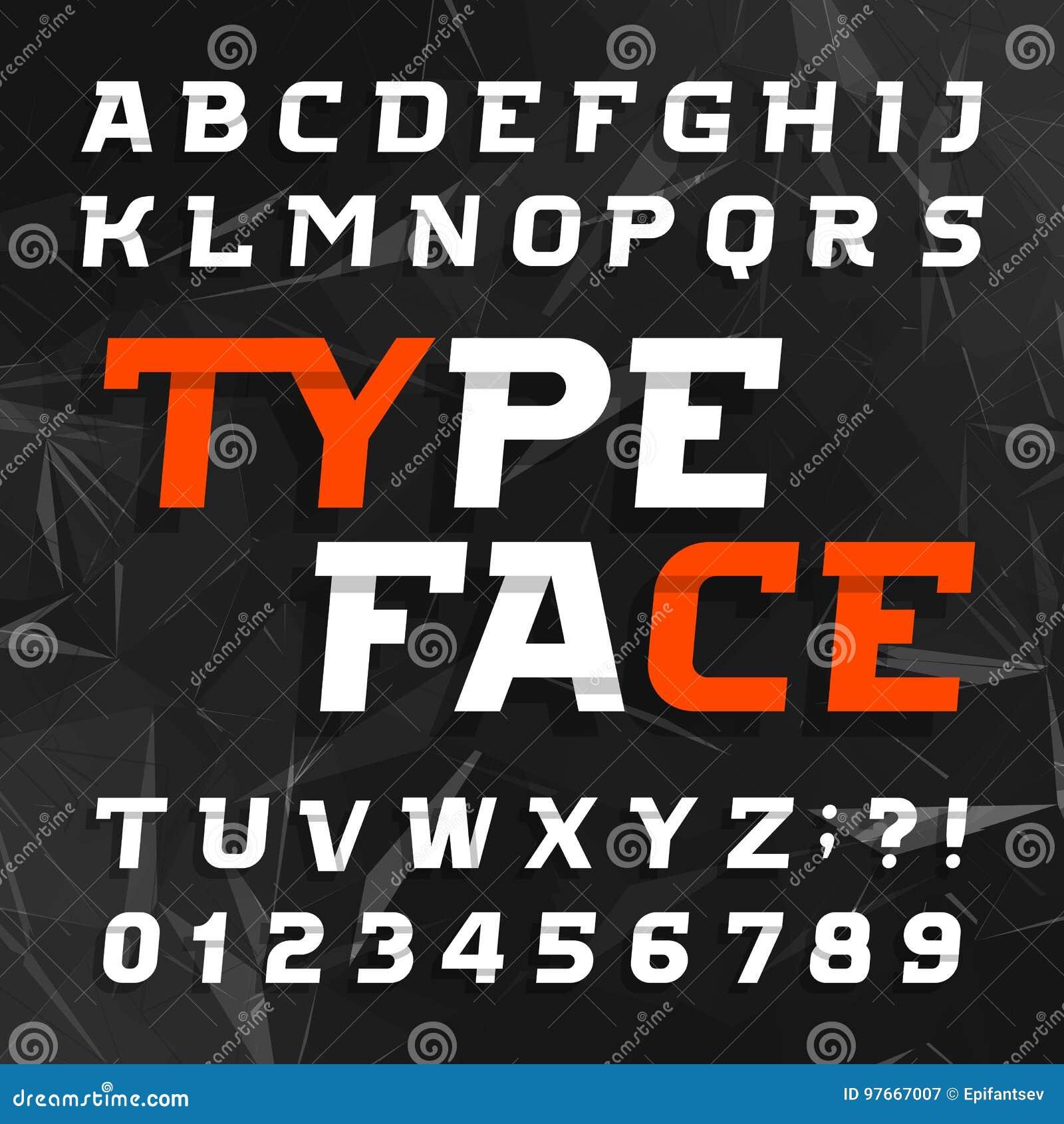 842e14506 Caráter tipo abstrato do alfabeto Tipo oblíquo letras e números em um fundo  poligonal escuro Fonte de vetor para seu projeto