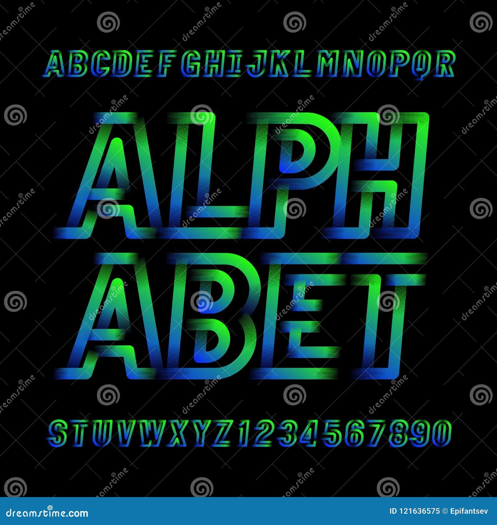 daeeb5986 Caráter tipo moderno abstrato do alfabeto Letras e números modernos do  estilo do esporte no preto Fonte de vetor para seu projeto da tipografia