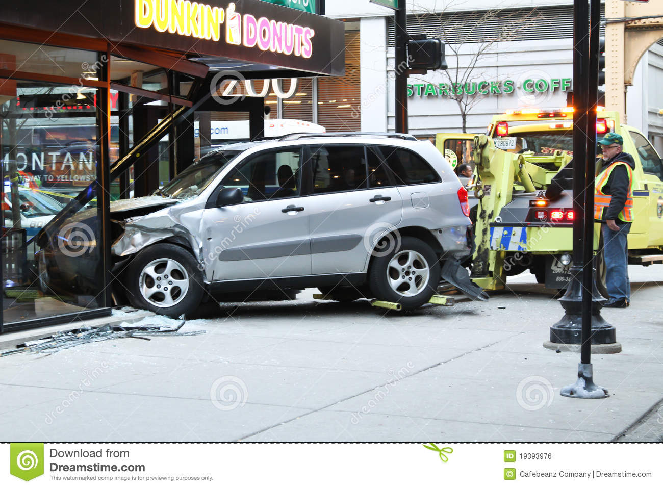 Car Accident Editorial Photo. Image Of Chicago, Sidewalk