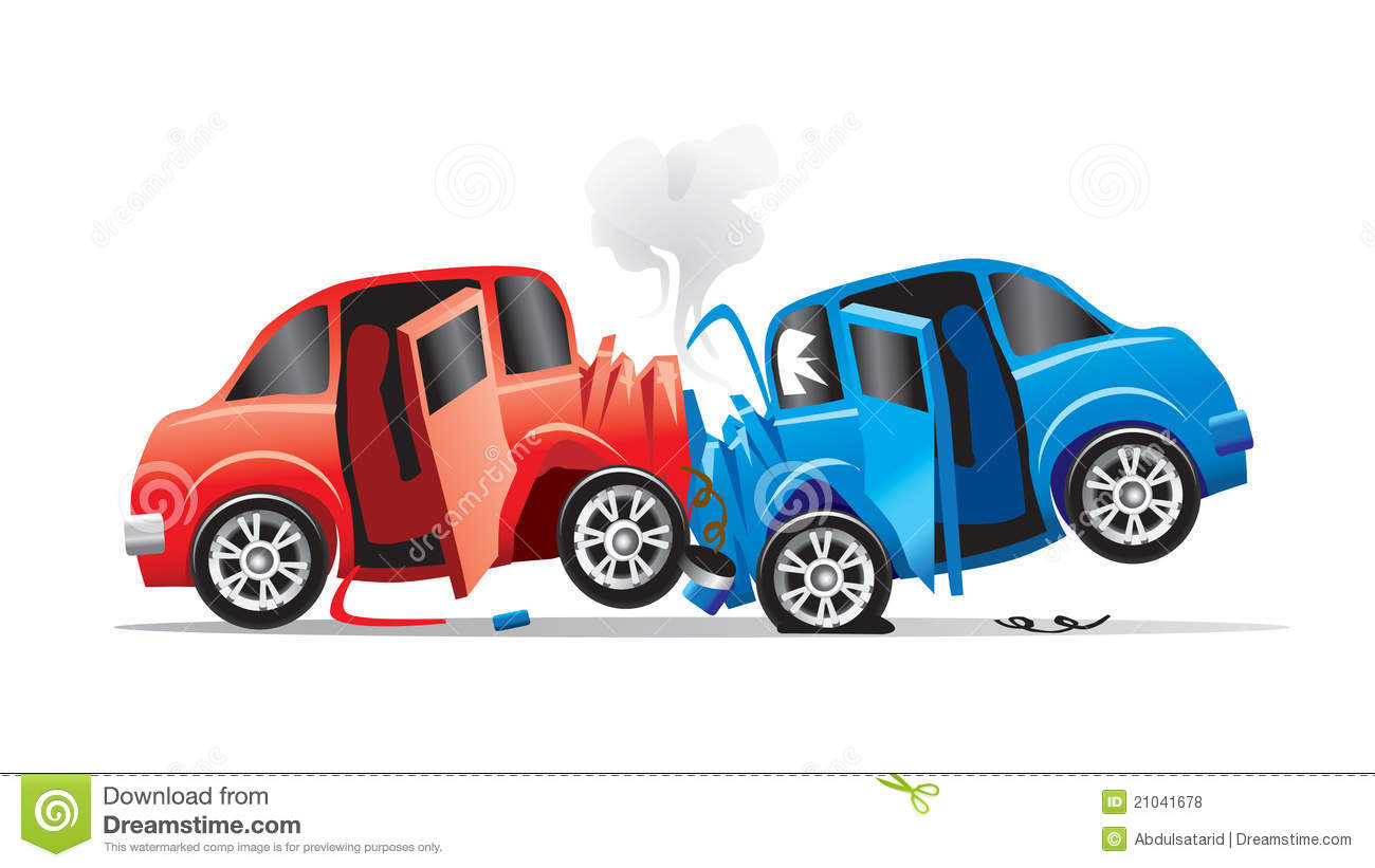 Car accident stock vector. Illustration of automobiles - 21041678