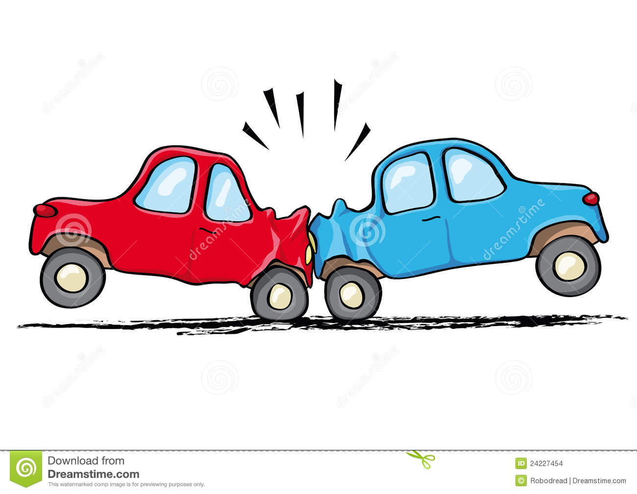 Car accident stock vector. Illustration of damage, auto - 24227454