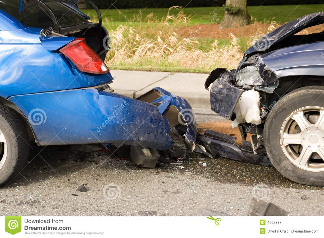 Car accident stock image. Image of destroyed, liability - 4662387