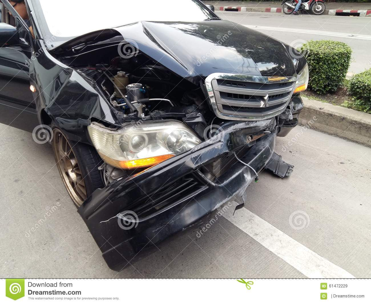 Car accident editorial stock image. Image of automobile - 61472229