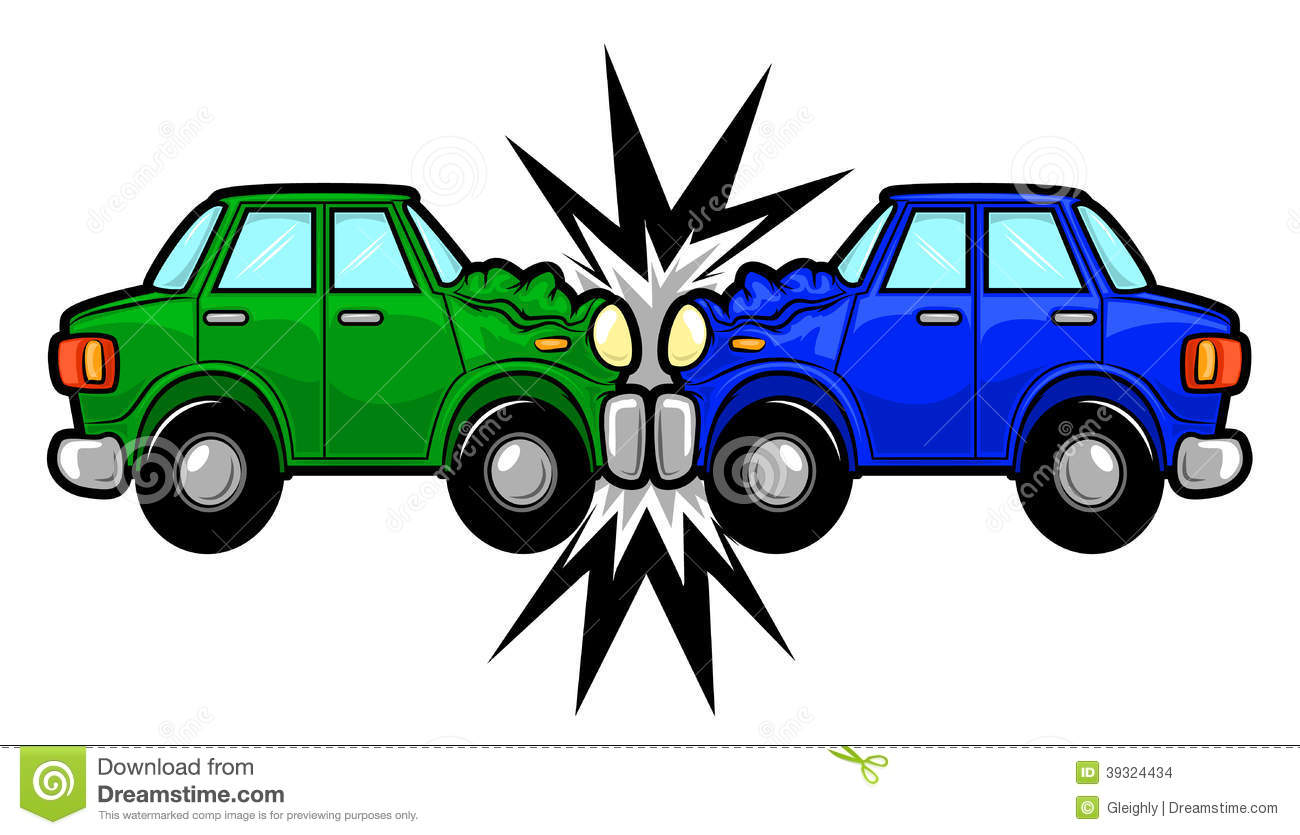 Car Accident Cartoon stock vector  Illustration of isolated