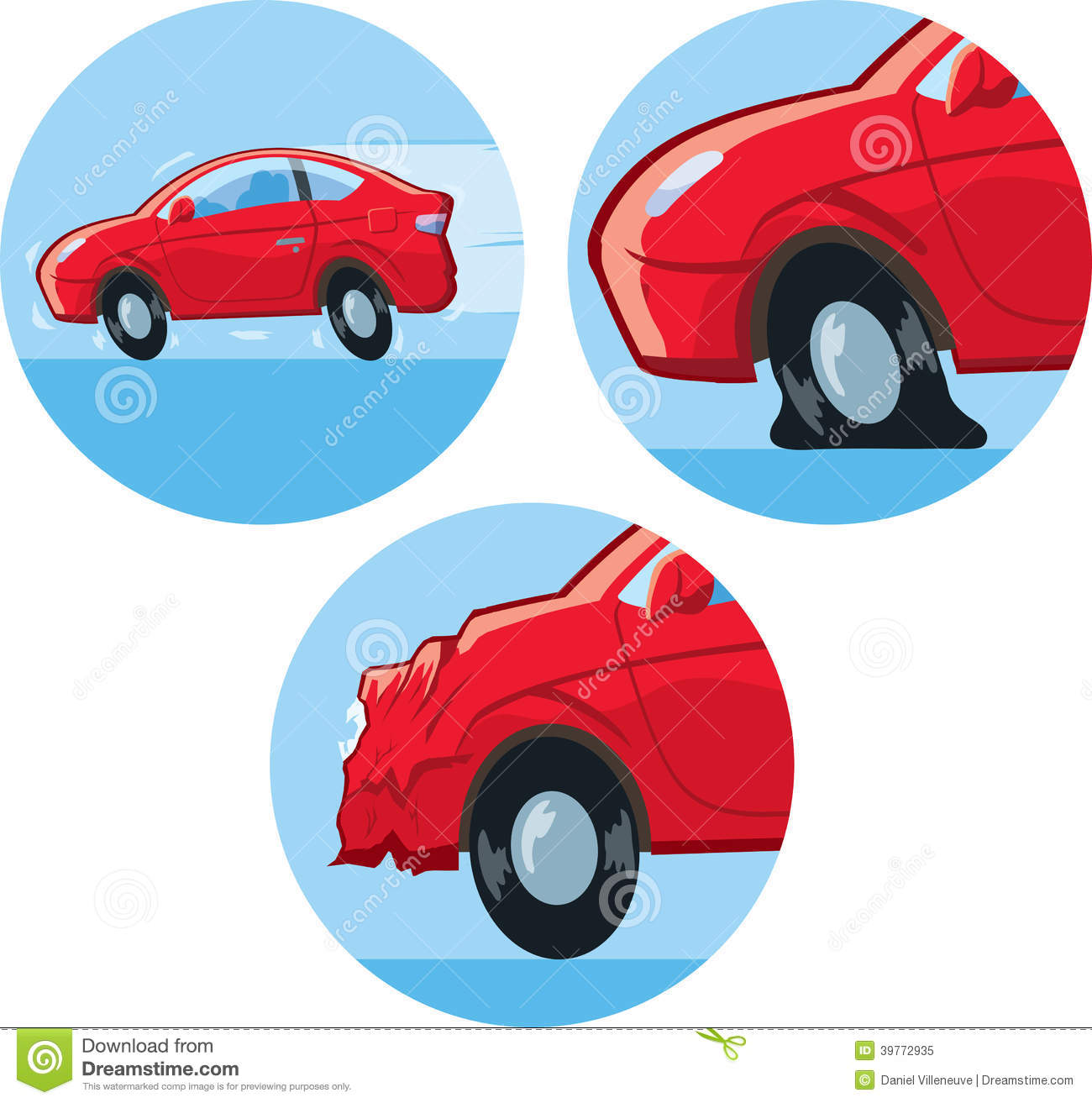 Car Accident Icon Stock Vector Illustration Of Tires 39772935