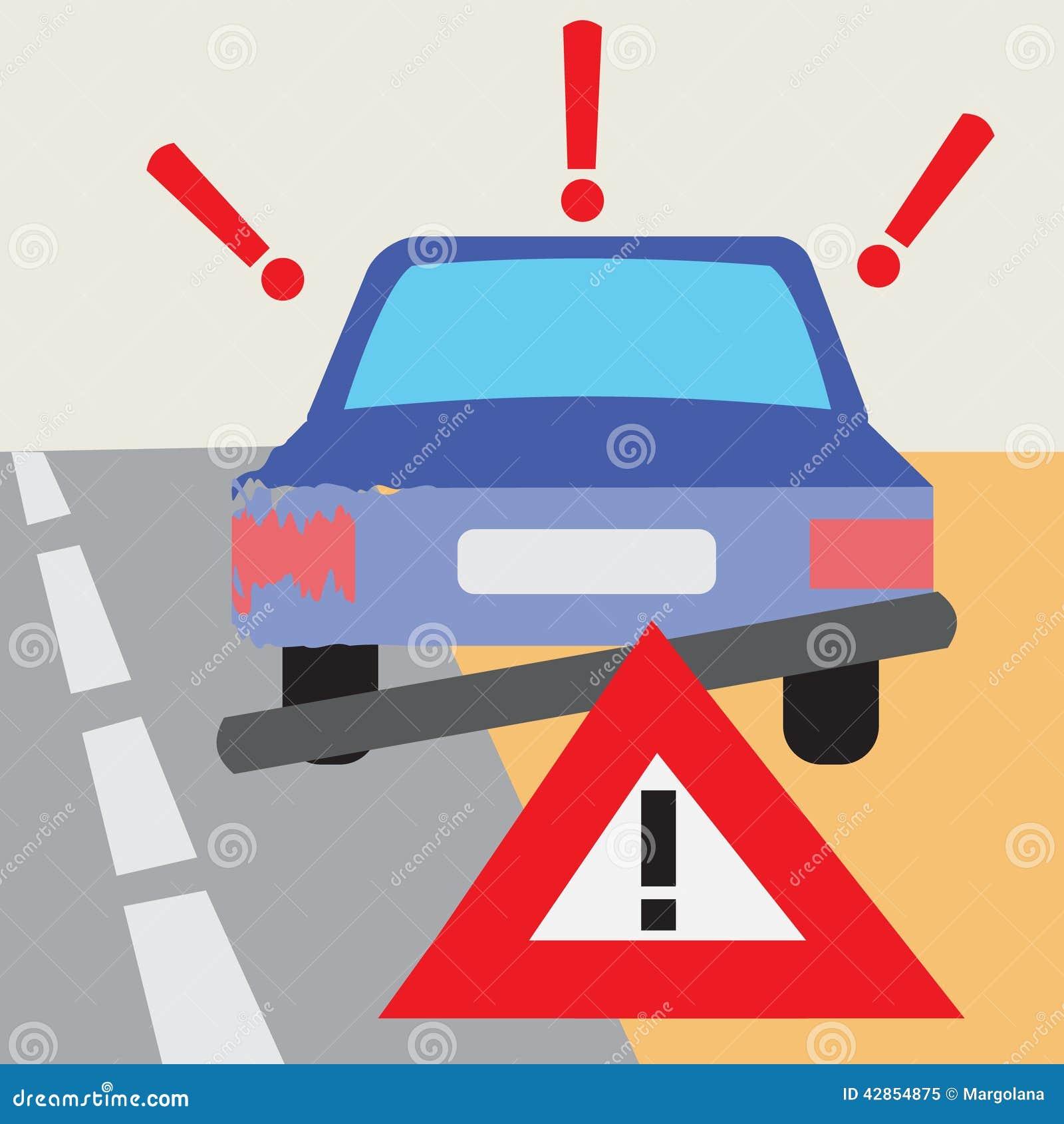 Home Design 3d Keeps Crashing: Car Accident Illustration Vector Illustration