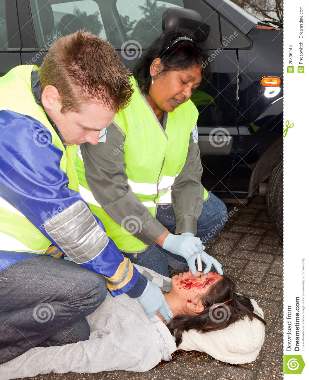 Car Accident Victim Stock Images