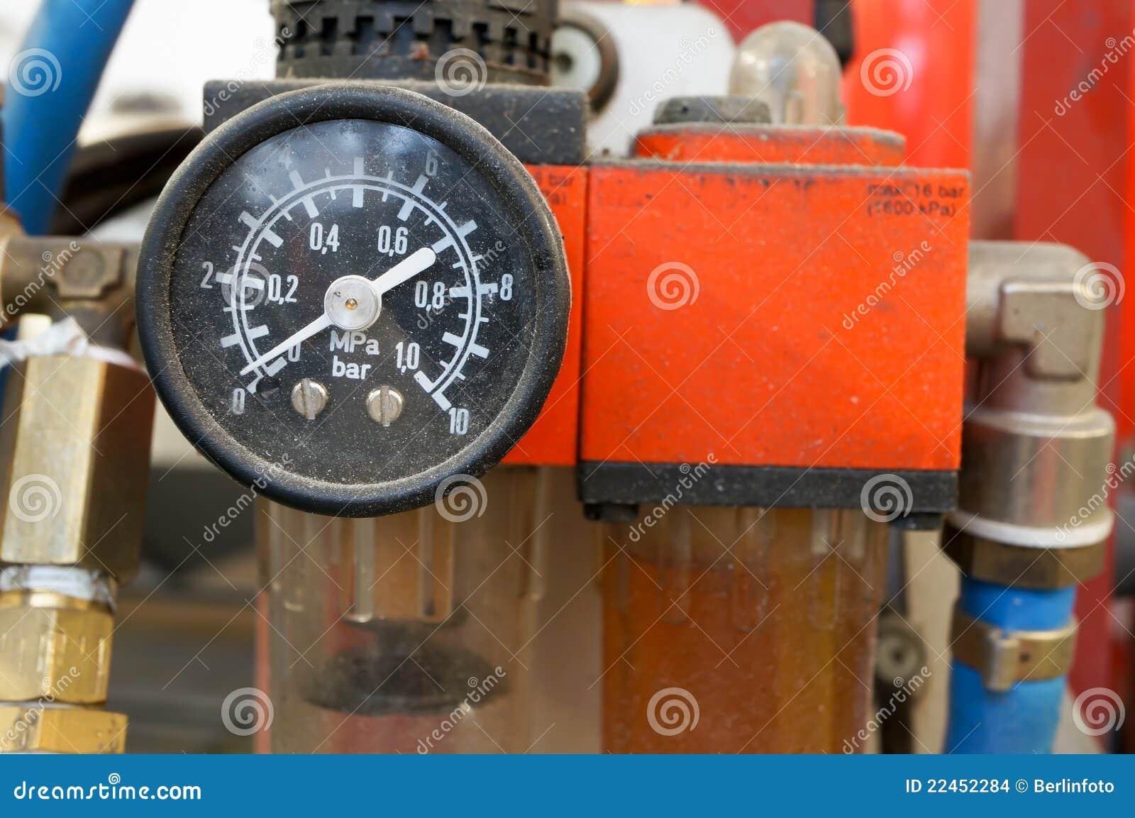 Car air pressure gauge stock photo  Image of machine - 22452284