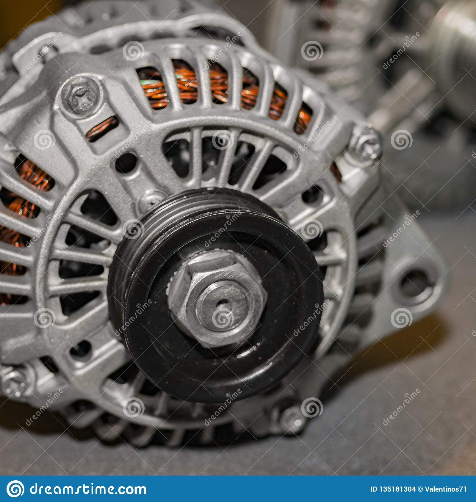 Car Alternator Repair At A Special Stand Stock Photo Image Of Machine Gear 135181304