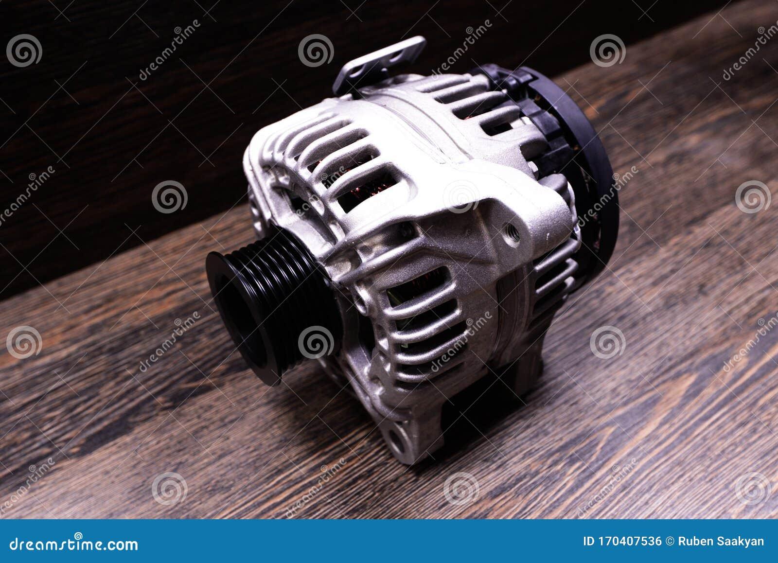 Car Alternator On Wooden Background Stock Photo Image Of Background Alternator 170407536