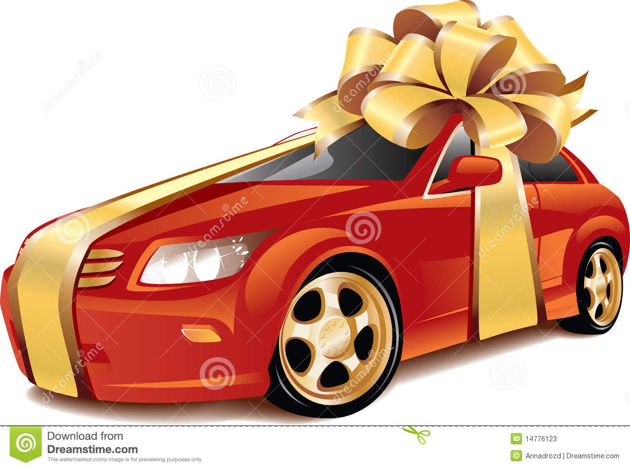 Expensive Car For Sale Or Gift Royalty Free Stock Image: Car As A Gift Stock Photos