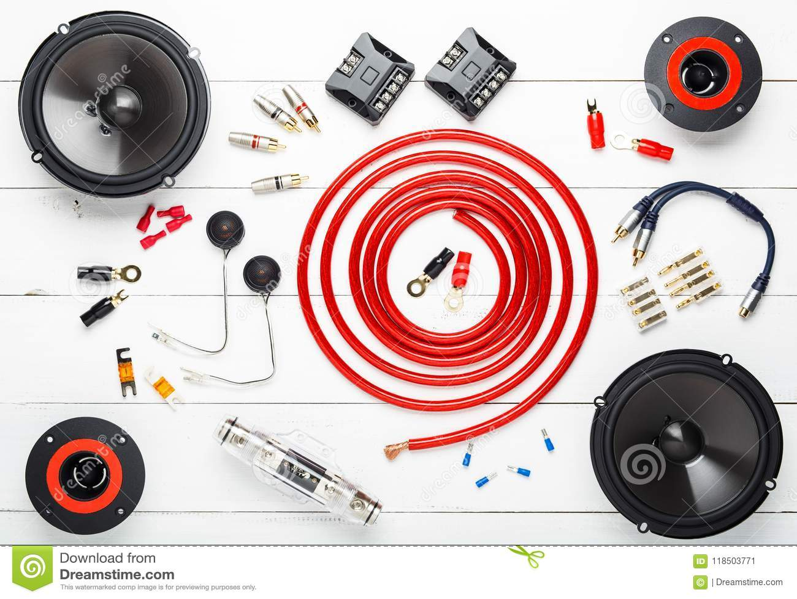 Car Audio With Speakers Stock Image Of Studio 118503771 Wiring