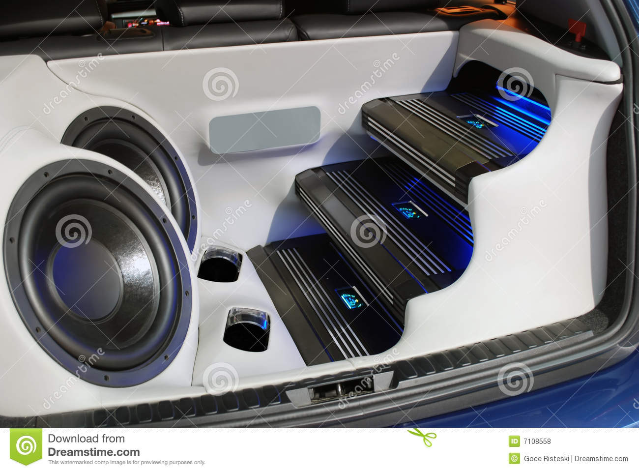 Car Audio System Stock Photo Image Of Amplifier Automobile 7108558