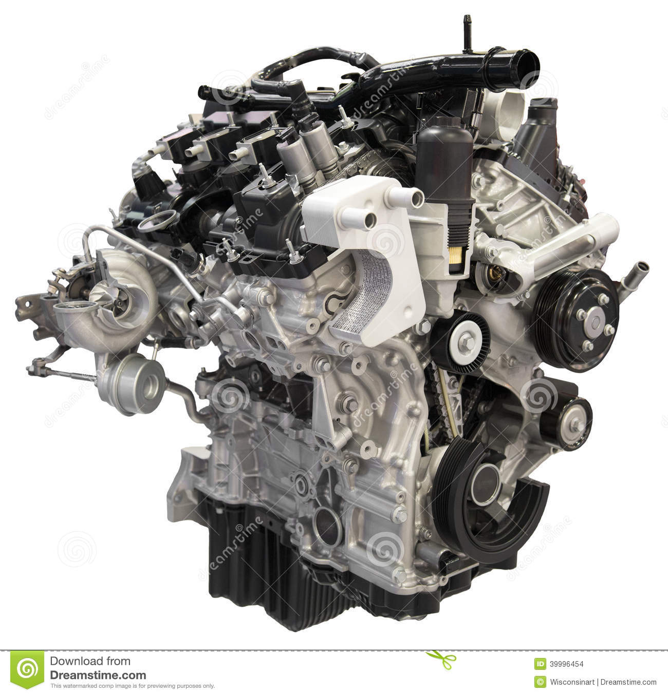 Car Auto Engine Motor Cutout Isolated Stock Photo Image