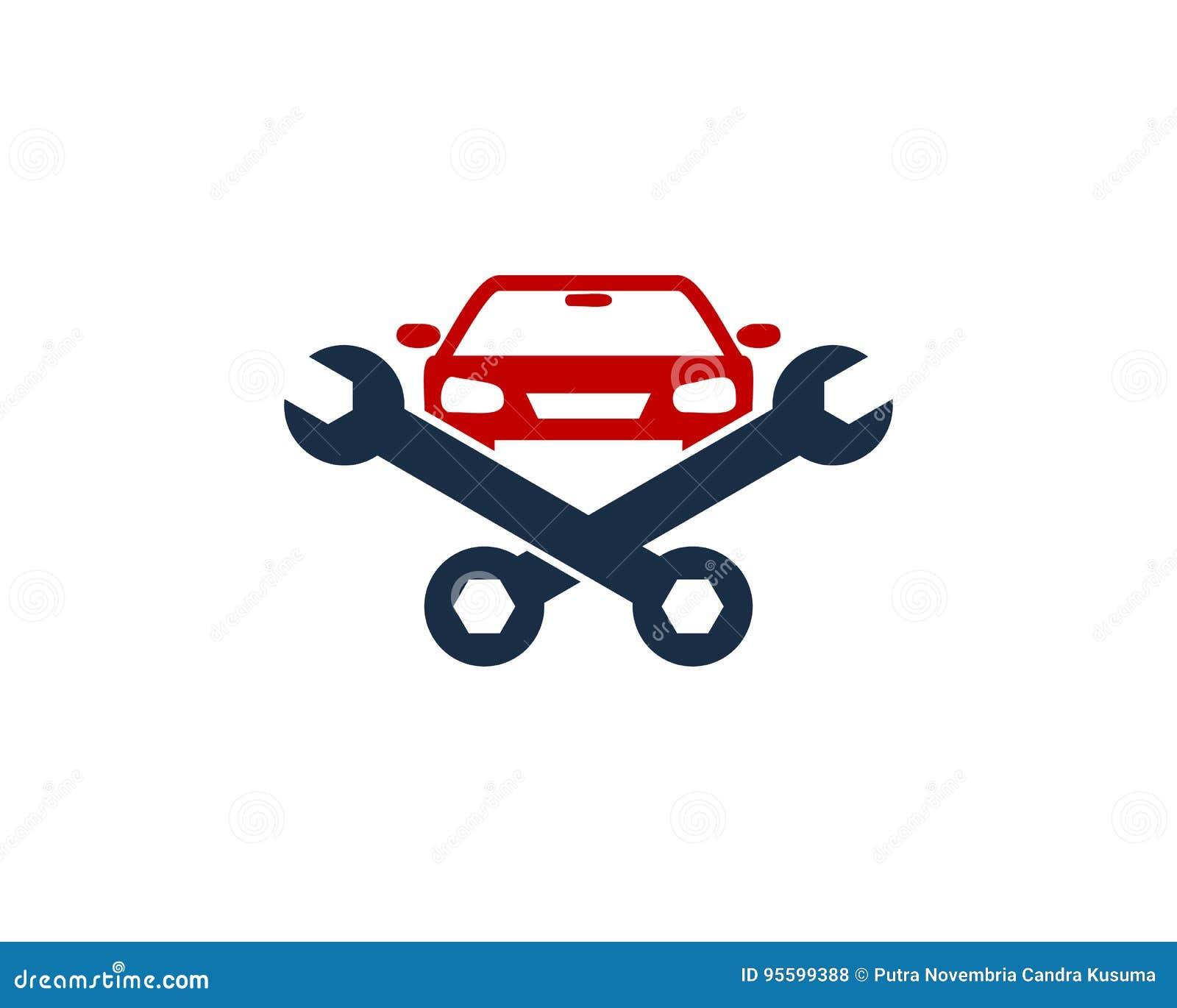 Car Auto Fix And Repair Icon Logo Design Element Stock Vector